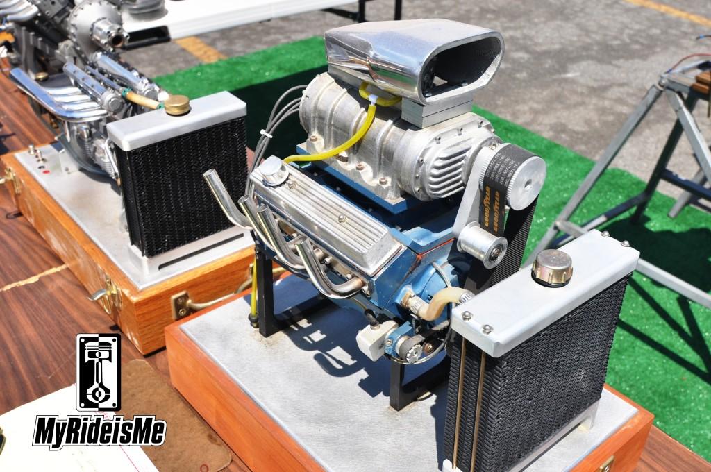miniature V8, working mini V8 engine, LA Roadster Show