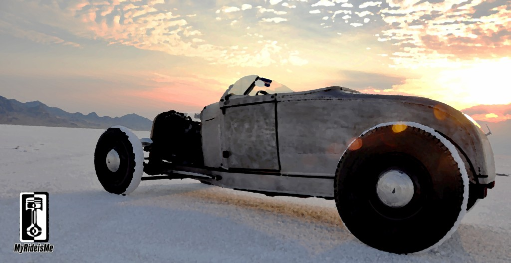 hot rod, bonneville salt flats, model a hot rod