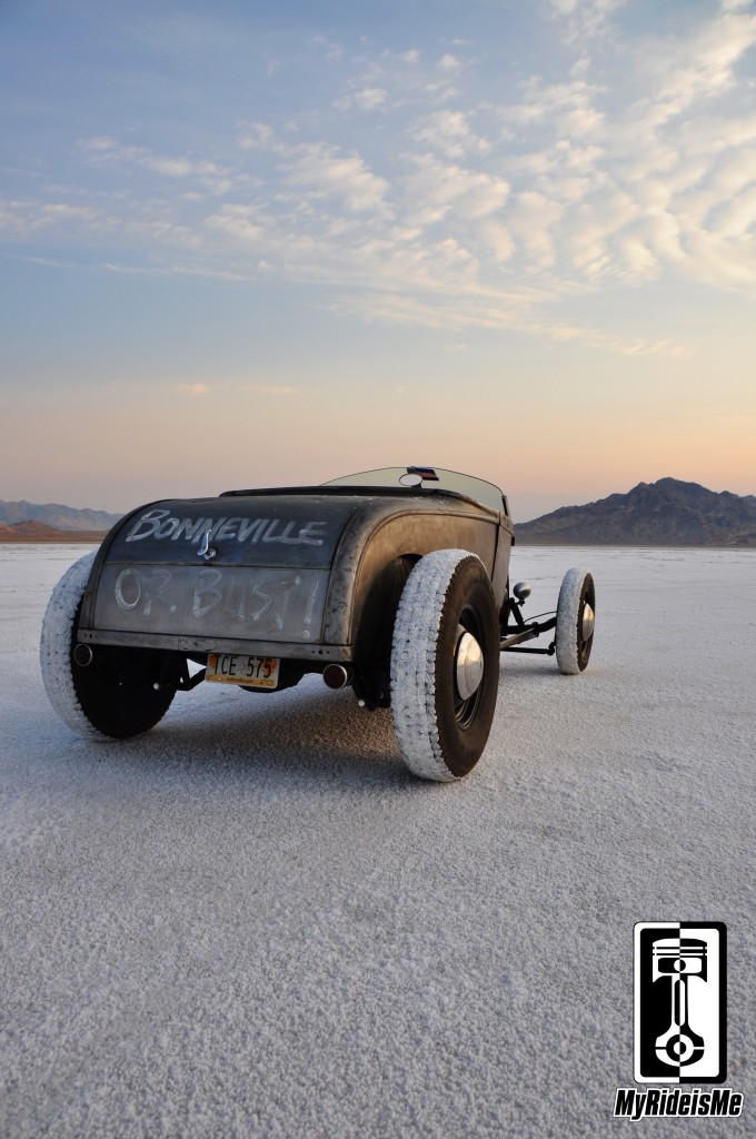 hot rod at bonneville salt flats, model a hot rod