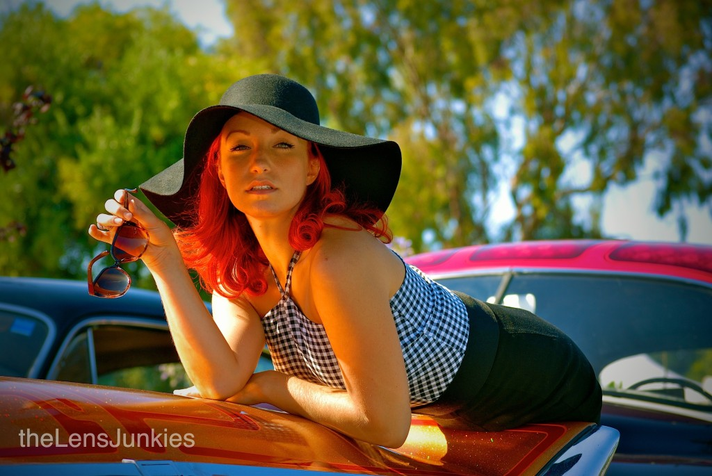 Hailey Lerren, hot rod pinup, hot rods and custom cars