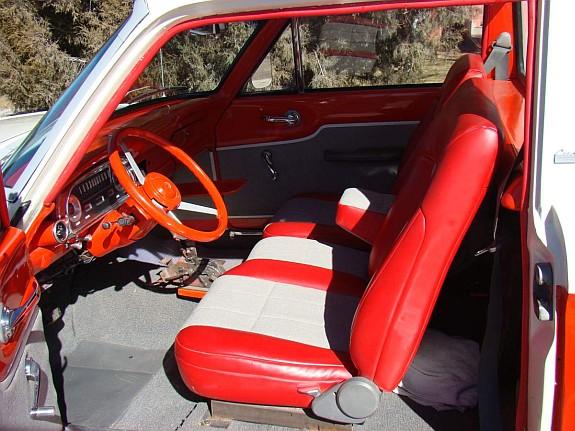 1960 Falcon Ranchero, Custom falcon ranchero, falcon ranchero interior