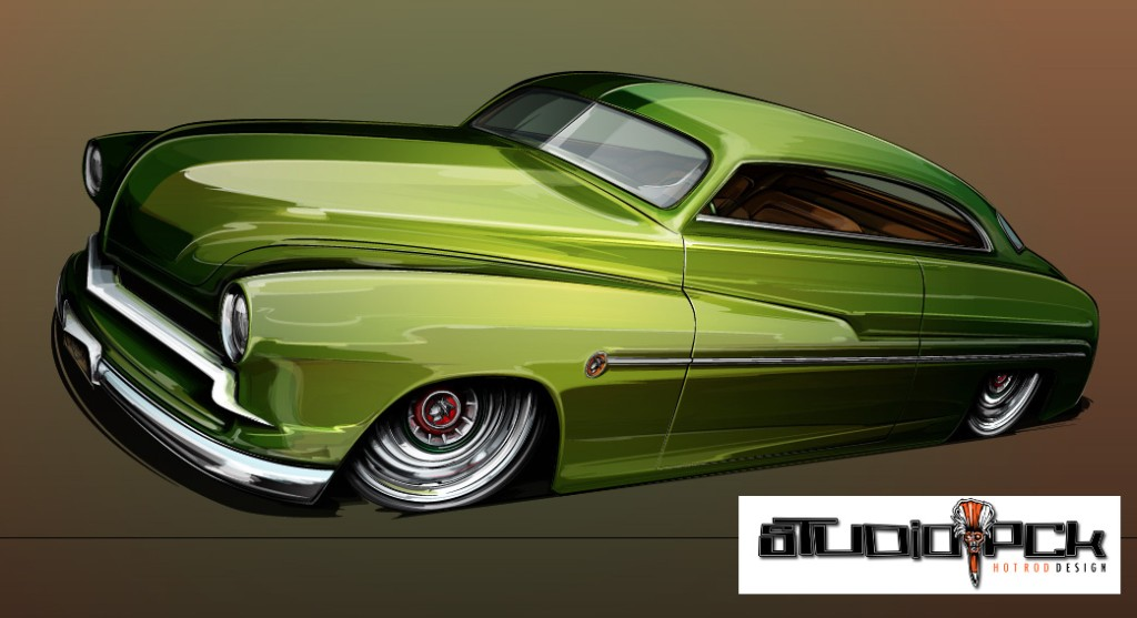 1951 Mercury, mercury custom, hot rod art