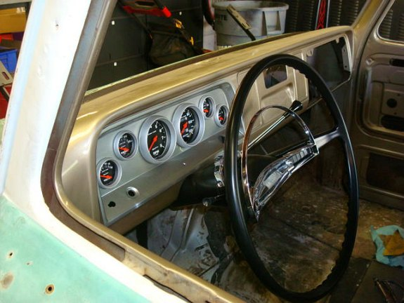 custom c10 dash, 1964 C10 custom truck