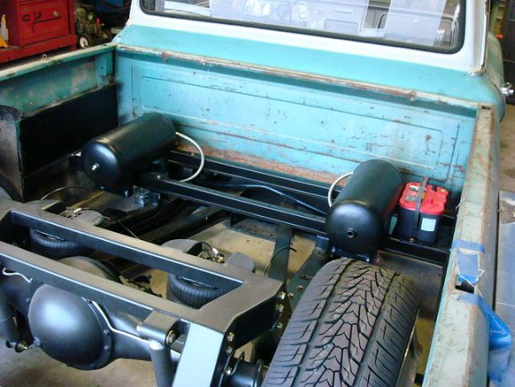 custom c10 rear air suspension, 1964 C10 custom truck, air ride c10