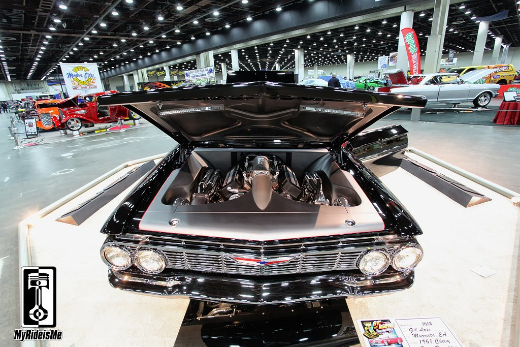 twin turbo chevy, custom impala,2013 Detroit Autorama
