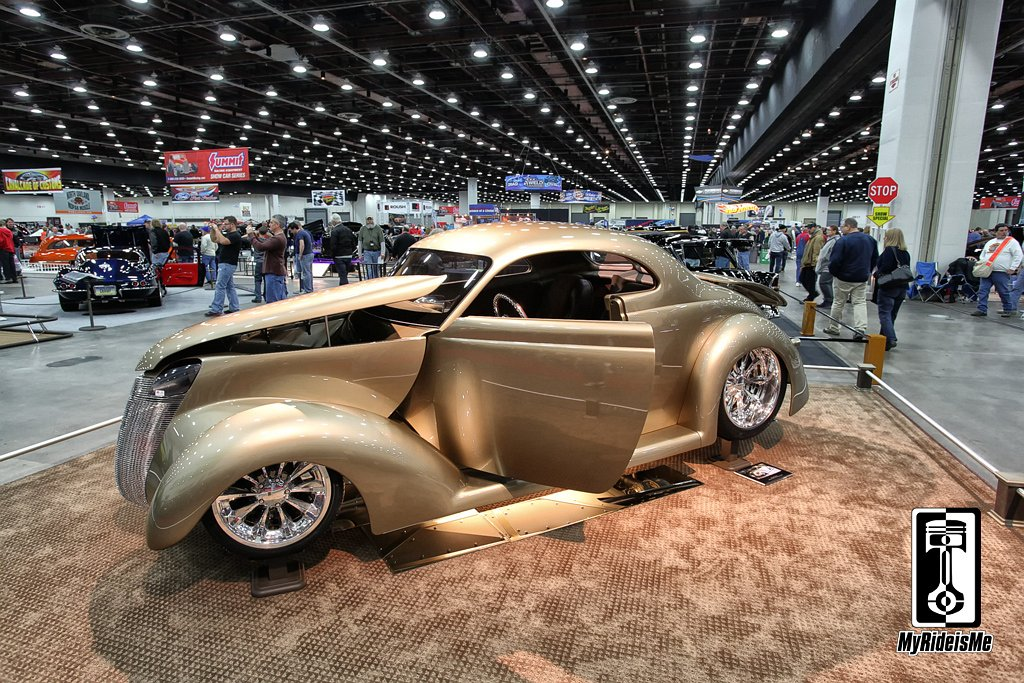Custom 1937 Ford, hot rod 37 Ford,2013 Detroit Autorama
