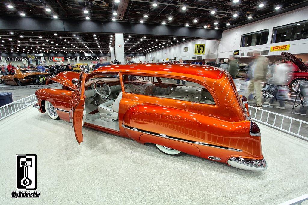 Custom cadillac wagon, 1949 cadillac wagon,2013 Detroit Autorama