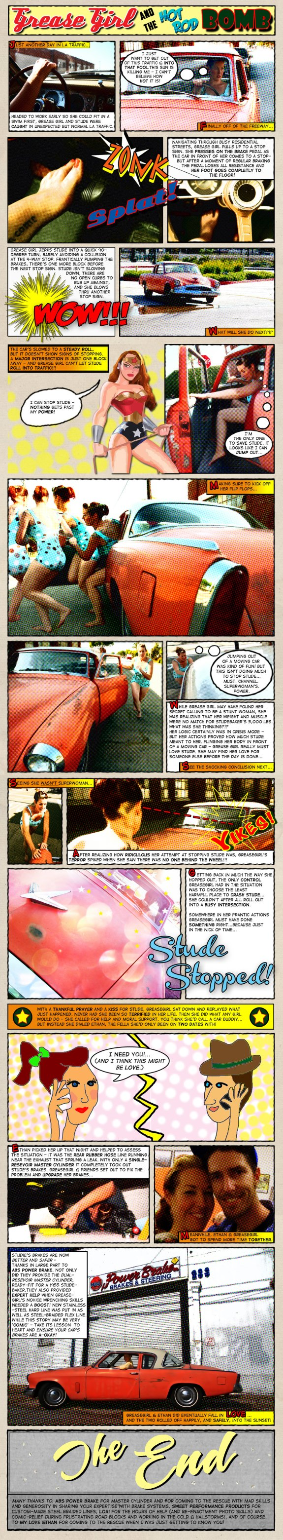 hot rod comic strip, hot rod art