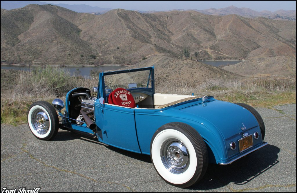 1930 Ford Sport Coupe, throttle kings car club, Hot Rods