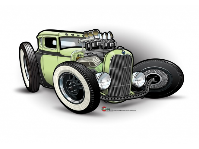 drawing cars, hot rod model A, hot rods