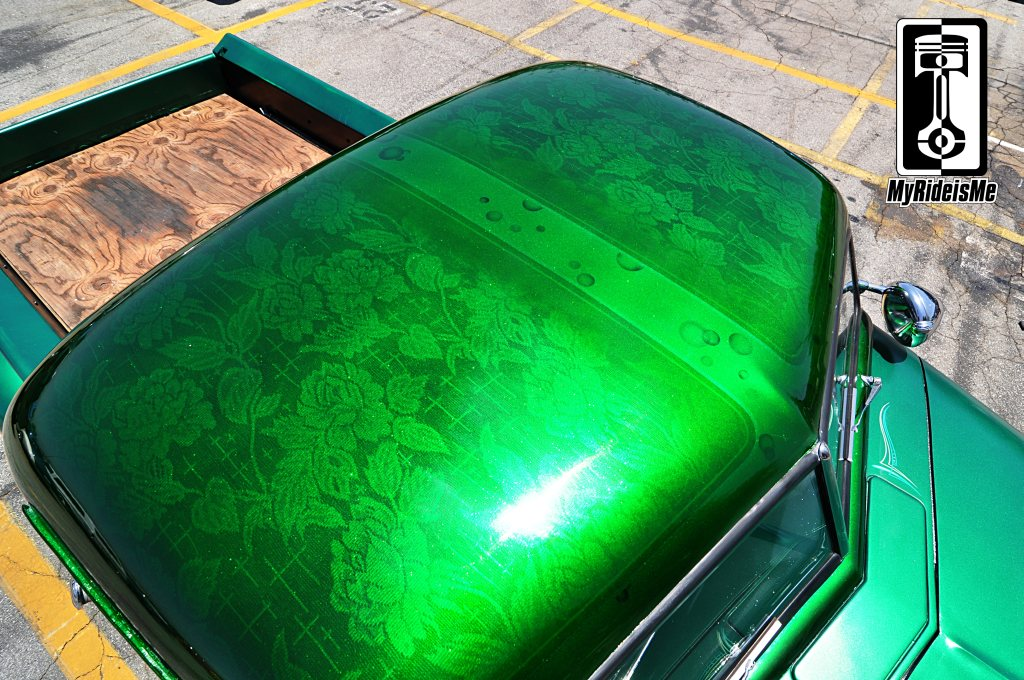 metal flake paint, flaked roof, custom paint jobs