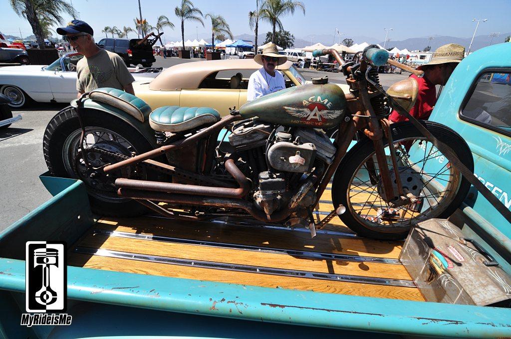 Chevy Thriftmaster, custom motorcycle, thriftmaster pickup