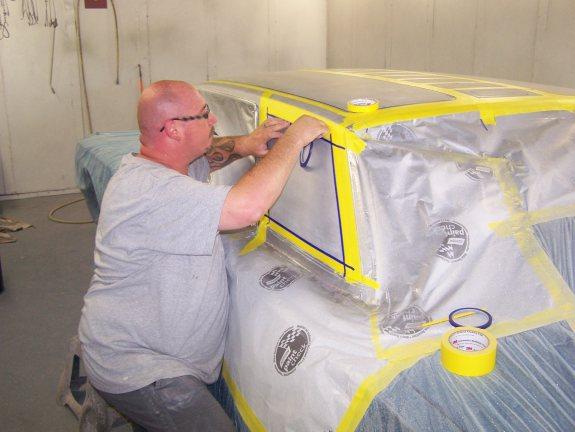 Custom Metal Flake roof, lace paint job, metal flake paint job