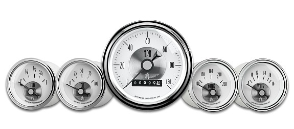 Types Of Pickup Trucks >> Auto Meter Prestige Pearl Gauges Add Class to your Hot Rod | MyRideisMe.com