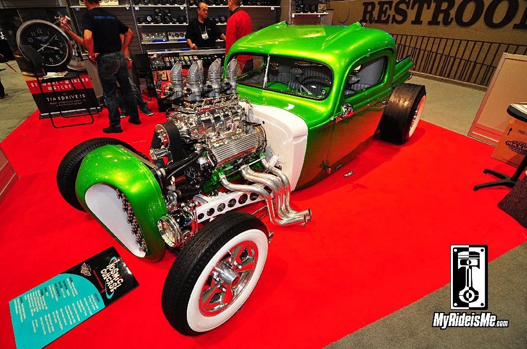 SEMA Show 2013, hot rods, 1940 Ford Hot Rod Pickup, blown olds rocket