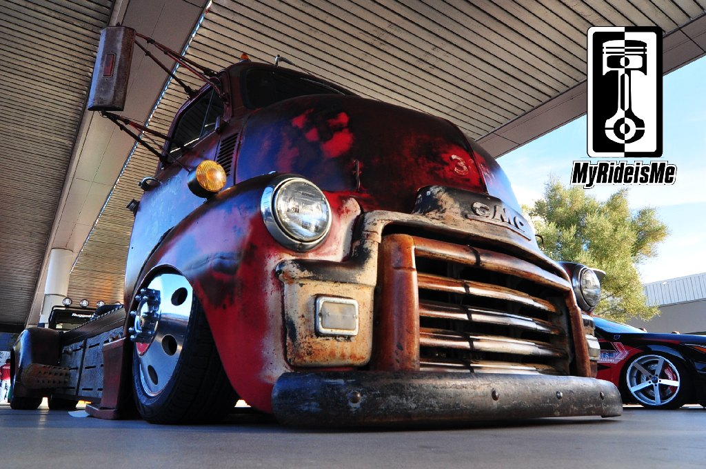 custom 1954 GMC COE, Welderup cars, SEMA Show 2013, diesel rat rod
