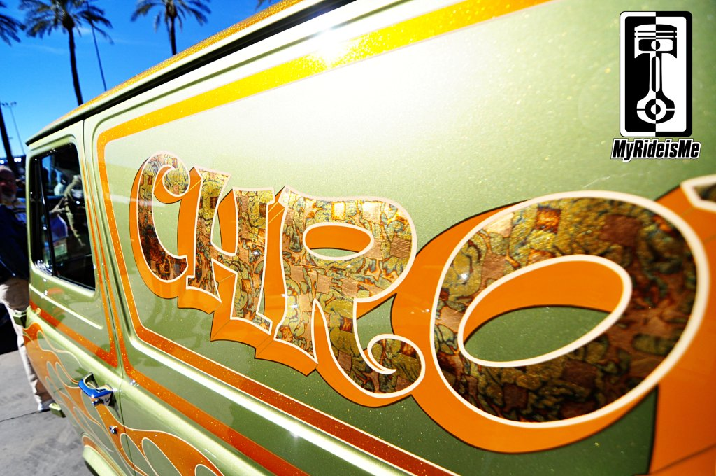 Custom ford Econoline Van, 2013 SEMA Show, metal flake paint