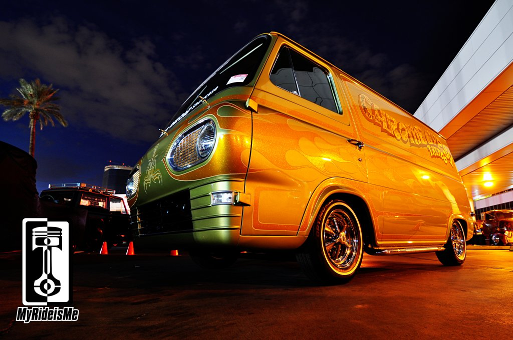 Custom ford Econoline Van, custom car pic, hot rod car show pictures