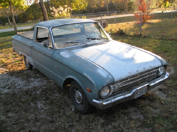 before restoration,1961 Falcon Ranchero, Custom Ranchero