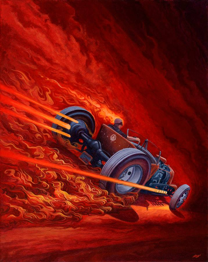 Hot Rod art, model T hot rod