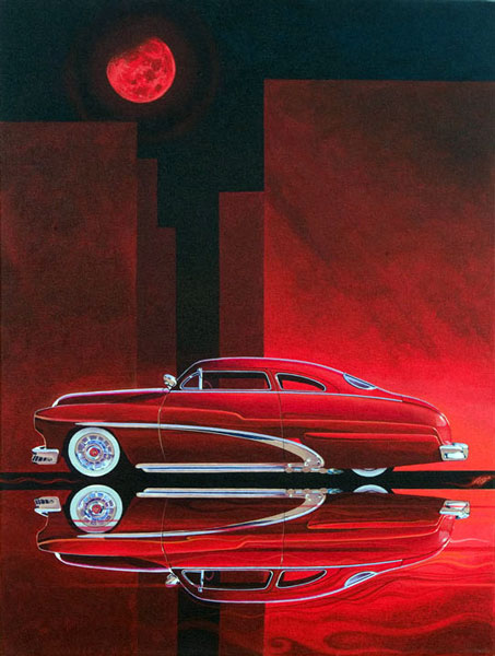hot rod art, lead sled, custom car art work