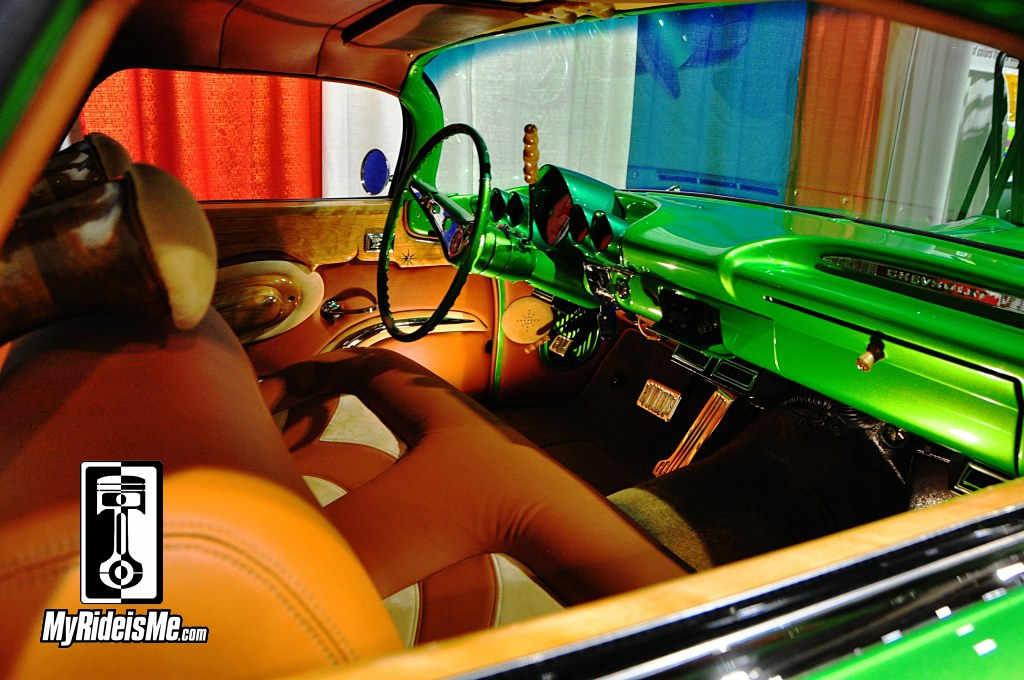 Custom Car Pics, Custom 1959 Chevy El Camino interior, 2014 Grand National Roadster Show