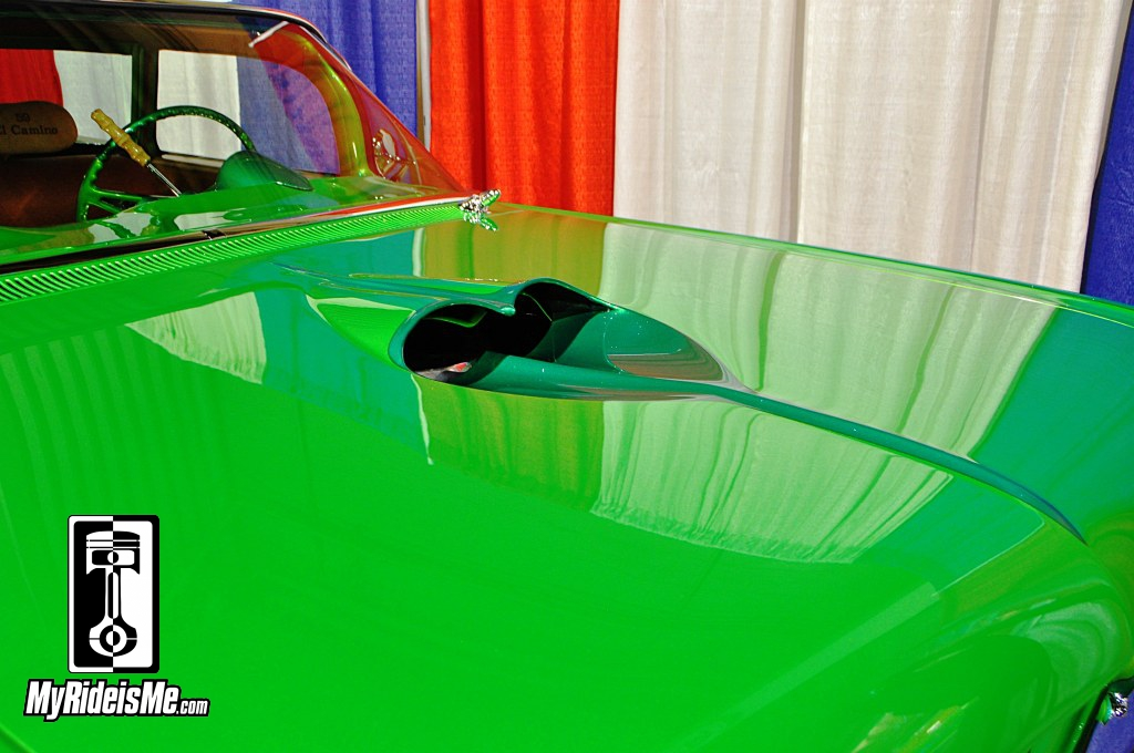 Custom Car Pics, Custom 1959 Chevy El Camino hood scoop, 2014 Grand National Roadster Show