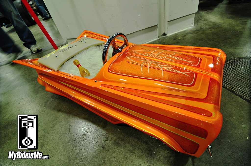 Metal Flake Paint Pedal Car, 2014 Detroit Autorama Basement, Hot Rod pictures