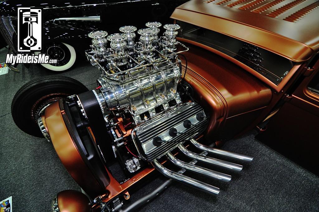 1929 Ford Model A Hot Rod blown hemi, 2014 Detroit Autorama, Hot Rods, Hot Rod car show pictures
