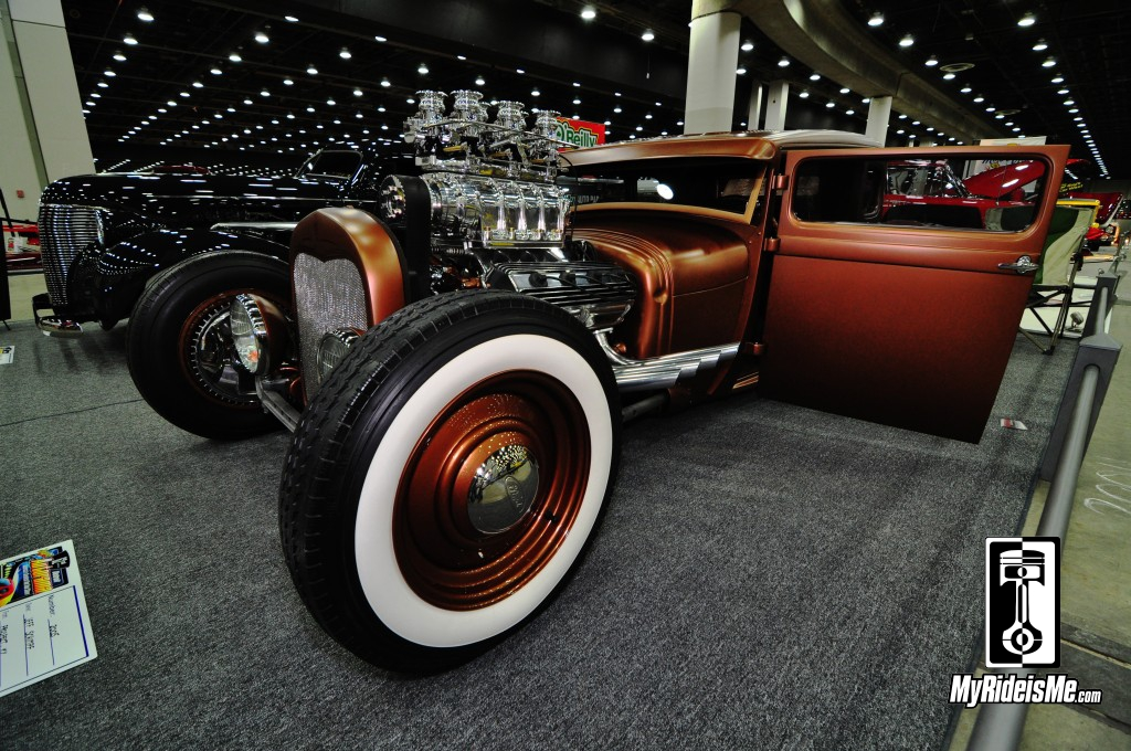 1929 Ford Model A Hot Rod Coupe, blown Hemi hot rod, 2014 Detroit Autorama