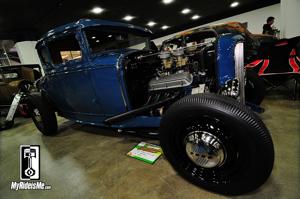 1930 Ford hot rod,  Model A Hot Rod, 2014 Detroit Autorama Basement