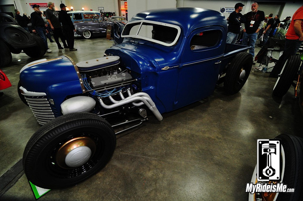 1947 International truck, Hot Rod Pickup, 2014 Detroit Autorama Basement Car Show