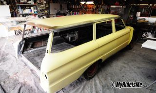 Falcon Wagon Paint – Gold on the Long Roof