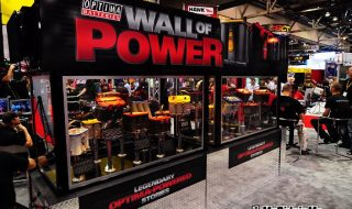 "Optima ""Wall of Power"" – Coolest Displays at SEMA"