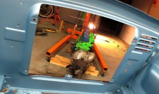 1960 Ford Falcon: 3 Days to Go – Engine is In!