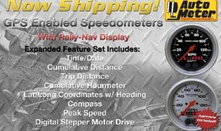 GPS Speedometers with Rally-Nav Display from Auto Meter