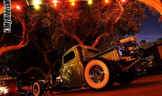 Hot Rod Pickup at Night – Desktop Photo