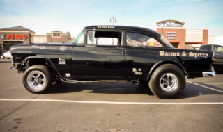 1955 Chevy Gasser spotted at Lowes Parking Lot