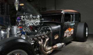 Dig it: A Rat Rod Sedan with 820 cubes of Pro Stock Engine