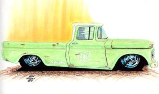 Haddens Hot Rod Drawings