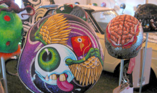 2013 Skull Canvas Helmet Art – Creative Cranial Covers
