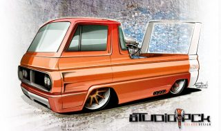 Drawing Cars – Blown Dodge A-100!