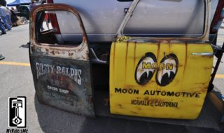 One-of-a-kind Custom Painted Shop Truck Doors