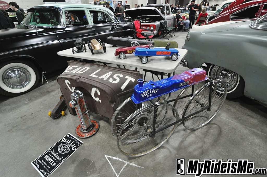 valve cover racers, detroit autorama basement