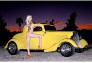 Sabina Kelley Hot Rod Pinup Sabina Kelly