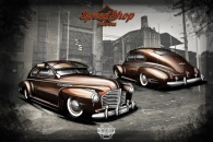 1941 Buick custom design rendering