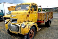 1941 Chevrolet COE is absolutely dripping with sculptural impact.