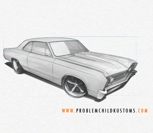 pckstudio's post about how to draw a muscle car