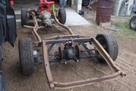 Jaguar rear suspension meets Studebaker frame