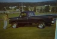 My very first brand new 4x4 truck. .at the age of 19.    1976 pic